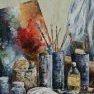 L'atelier du peintre [Acrylique - 65 x 50]