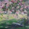 A l'ombre du cerisier [Huile -]