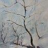 Entre soleil et neige [Aquarelle - 40 x 30]