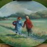 Promenade [Huile sur toile, médaillon 40 x (...)]