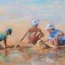 Entre sable et eau [Huile - 38 x 61]