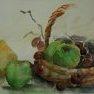 Fruits d'automne [Aquarelle - 30 x 40]