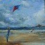 Cerf volant - Diptyque 1 [Acrylique sur toile - 40 x 40]