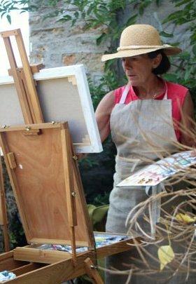 A Montfort l'Amaury - Peintres dans la rue