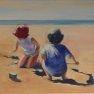 Petit duo sur la plage [Acrylique - 30 x 40]