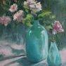Les deux vases turquoise [Huile - 40 x 30]