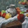 Pommes et pichet [Acrylique - 46 x 55]