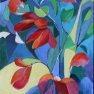 Vitrail de fleurs [Acrylique - 55 x 33]