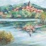Bords de Seine à Vétheuil [Huile - 70 x 50]