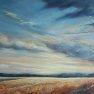 Ciel d'un soir en plaine [Huile - 50 x 70]