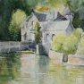 Les reflets roses [Aquarelle - 40 x 50 - (Montigny le (...)]